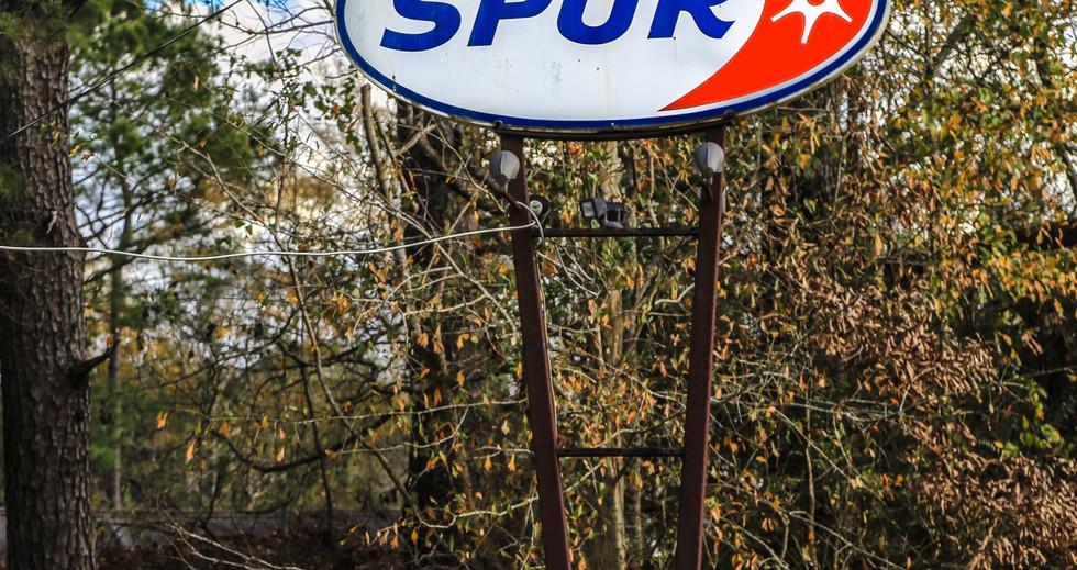 Spur Gasoline Sign