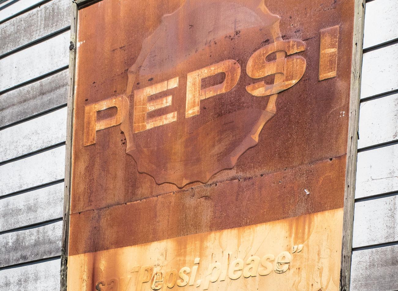 Rusting Pepsi Sign