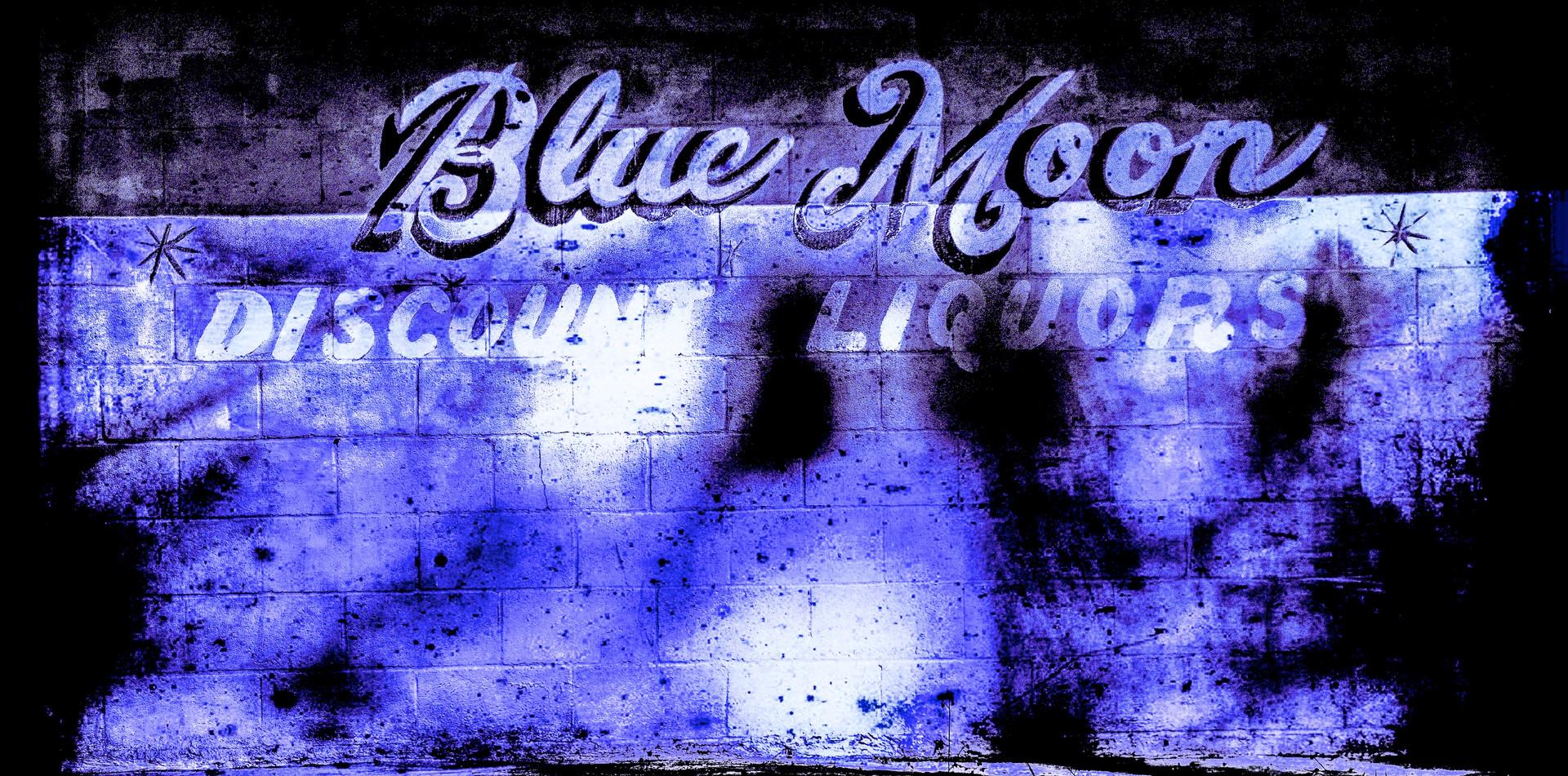 Blue Moon Discount Liquors Sign