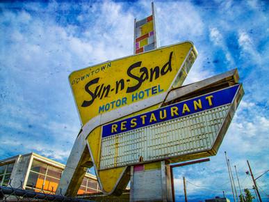 Sun-n-Sand Motor Hotel Sign