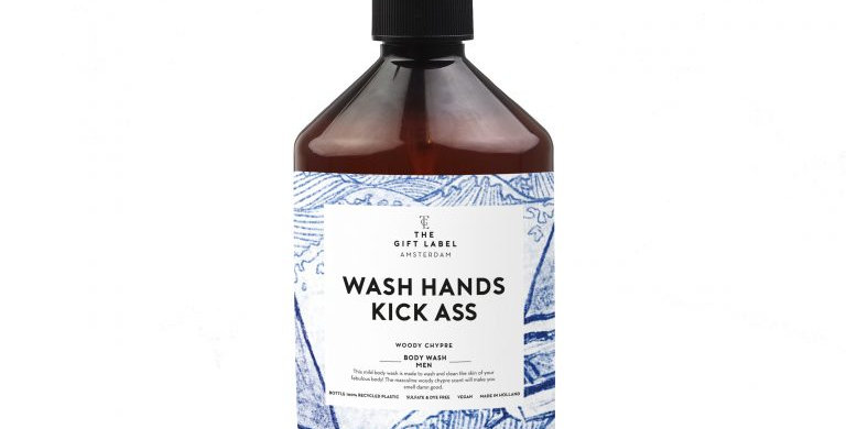 The Gift Label – Wash Hands Kick Ass Body Wash for Men