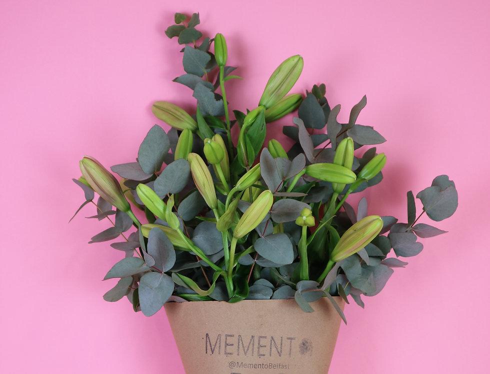Lily & Eucalyptus Posy