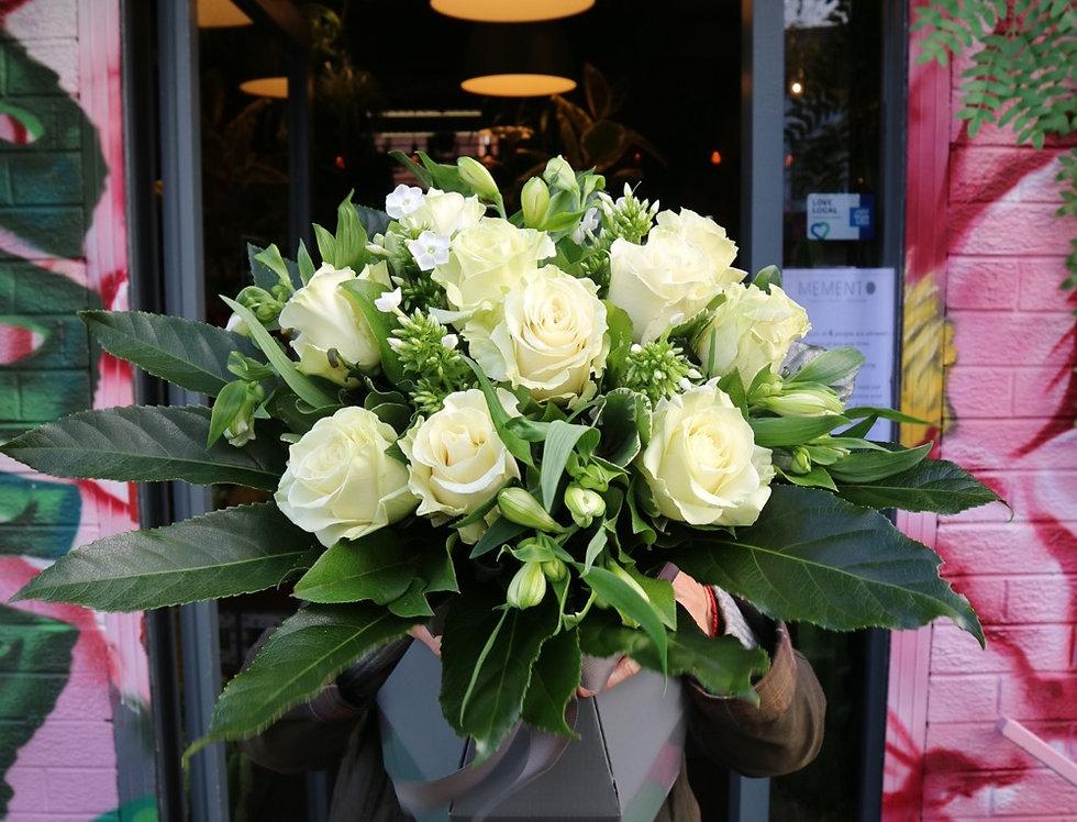Superior White Rose Bouquet