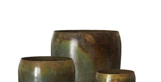 Manju Pot Antique Green