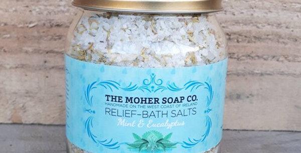 Relief Bath Salts – Mint & Eucalyptus