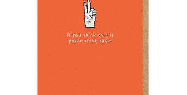 Peace Enamel Pin Greeting Card