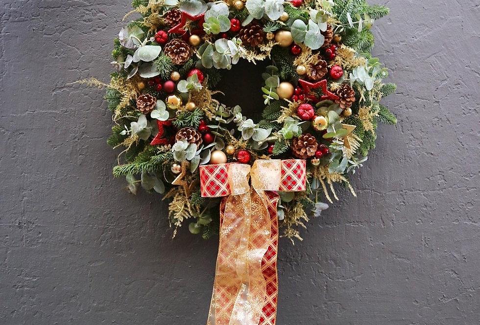 Ruby & Gold Luxury Door Wreath