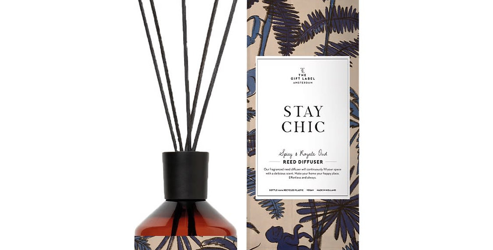 The Gift Label – Stay Chic Scented Reed Diffuser
