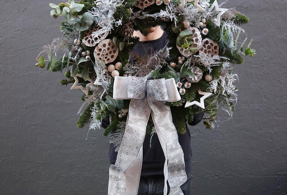 Festive Frost Luxury Door Wreath