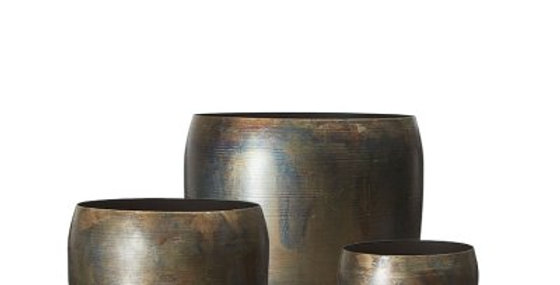 Manju Pot Antique Silver