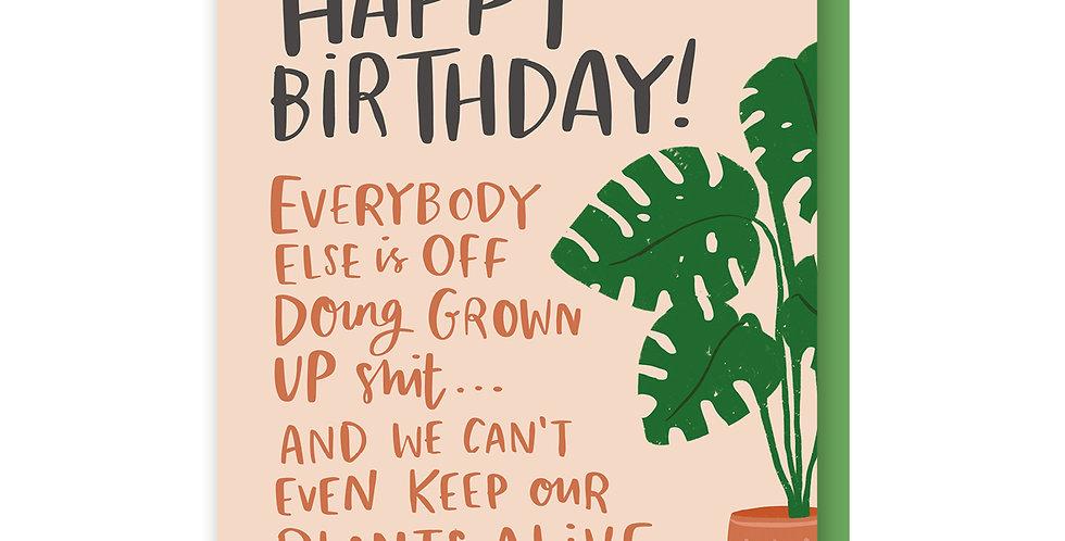Plants Birthday Card