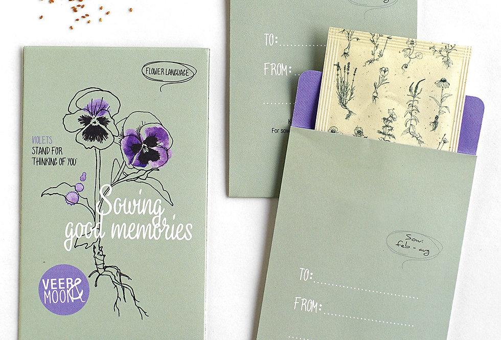 Sowing Good Memories (Violets)