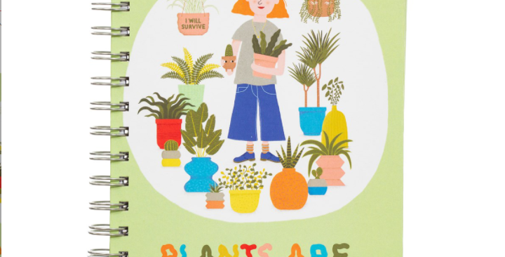Plants Are My Friends A5 Notebook