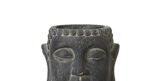 Black Buddha Head Planter
