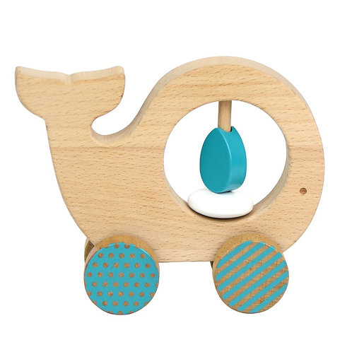 Whale Wooden Push Along Toy