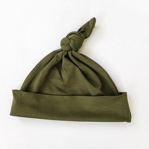 Olive Newborn Knot Hat