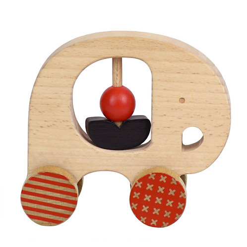 Elephant Wooden Push Along Toy