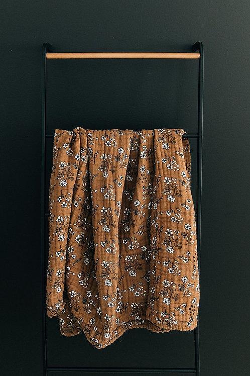 Vintage Floral Muslin Quilt
