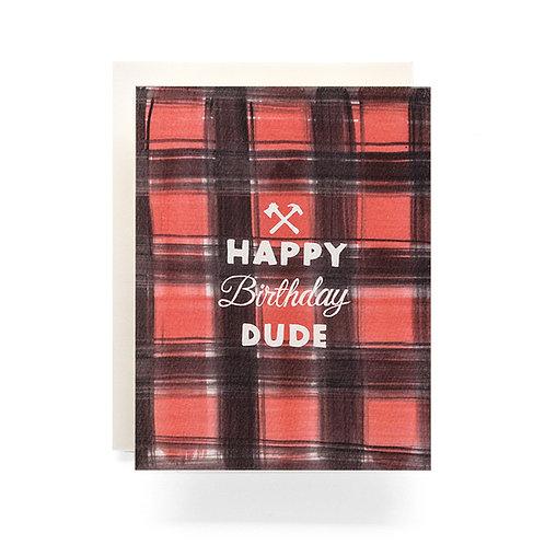 Buffalo Plaid Birthday Greeting Card