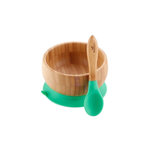 Organic Bamboo Suction Cup Bowl