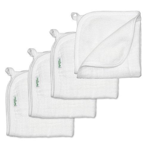 Organic Cotton Muslin Washcloths