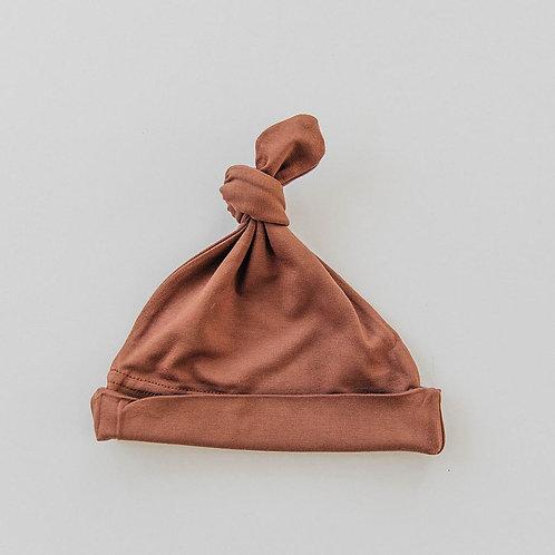Rust Newborn Knot Hat