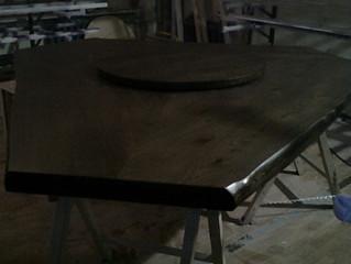 Стол из слэбов карагача готов к отгрузке