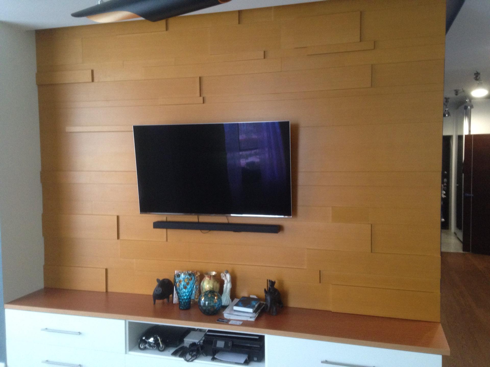 Стеновая панель из массива дерева