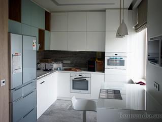 Белоснежная кухня по индивидуальному проекту