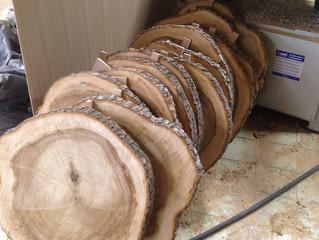 Круглые слэбы из дерева