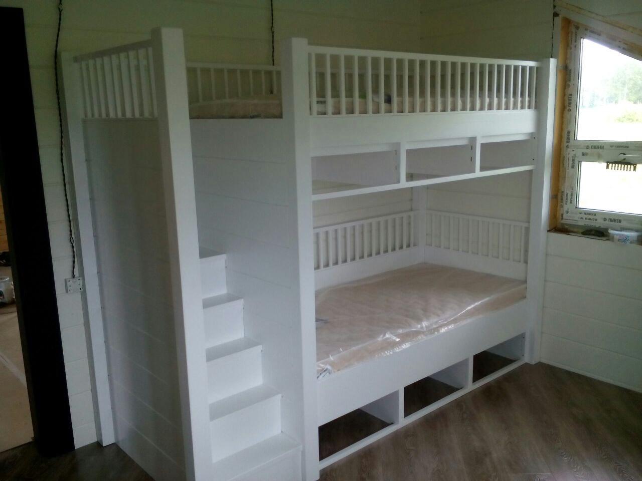 Двухъярусная кроватка детская