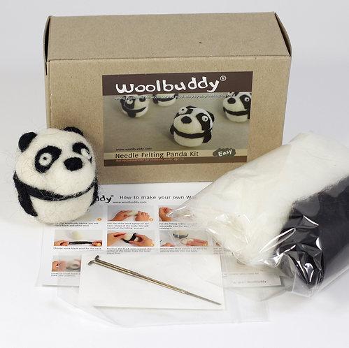 WBK-004_Woolbuddy パンダ キット (Easy)初級者向け