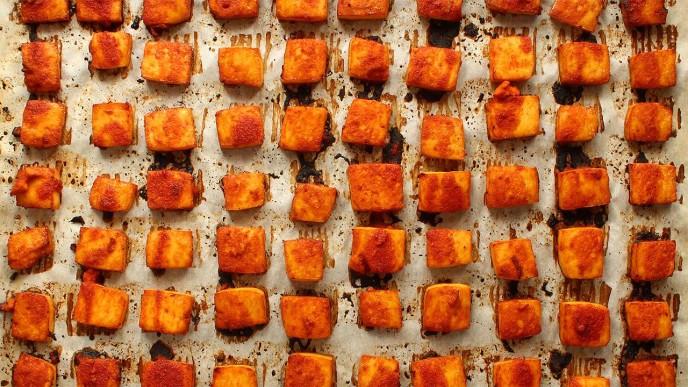Tofu au Sriracha