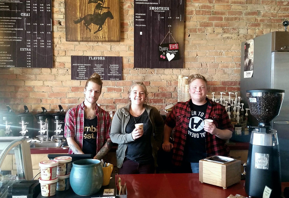 A few of the great baristas at Colter Coffee - thanks for making Main Street Kalispell a great place to spend time!