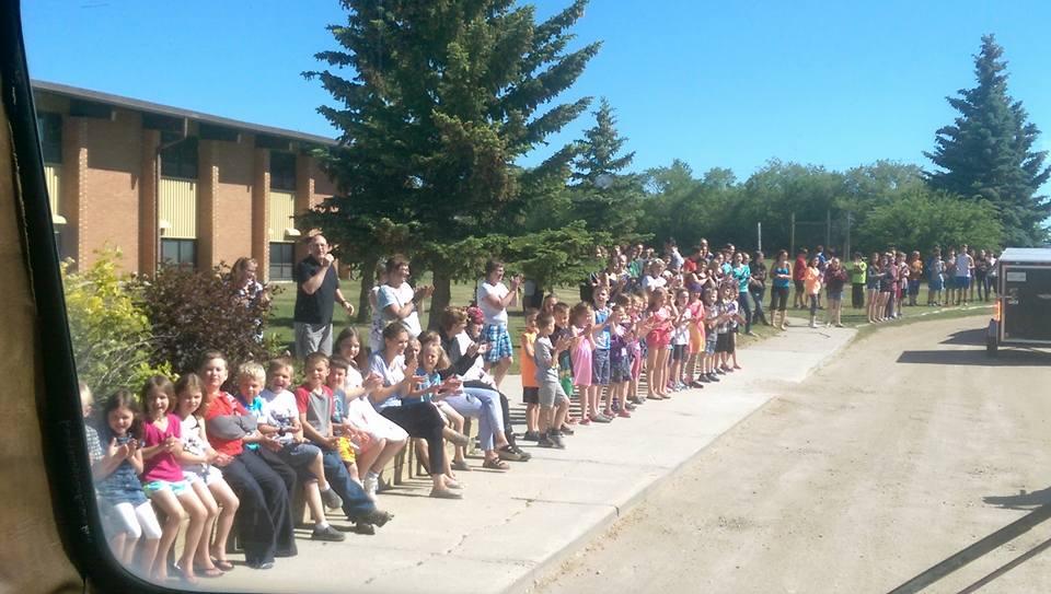 School rally Hanley