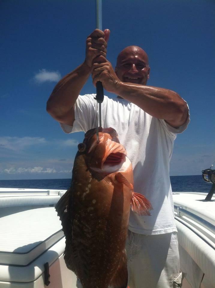 Stong man strong fish
