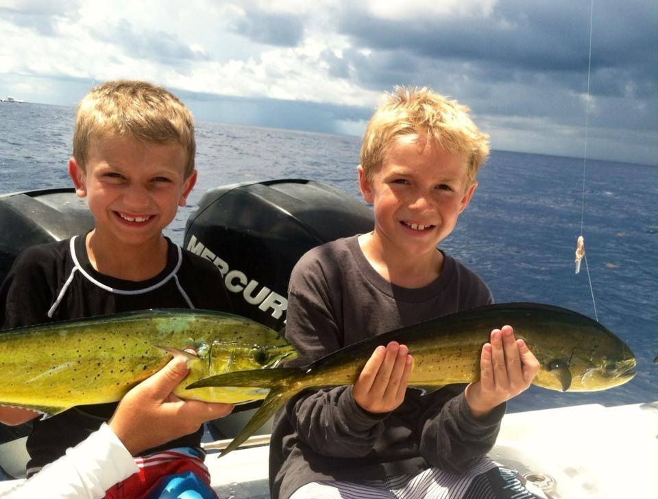 Young Anglers with dolphin