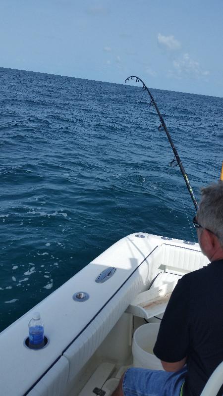 Hooked up fishing offshore Sarasota