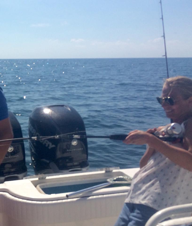 Women catching fish