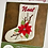 Thumbnail: Poinsettia Stocking Printed Pattern ONLY