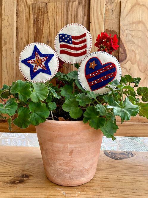 Patriotic Potstickers Printed Pattern