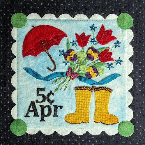 April Showers Wool & Embellishment Kit