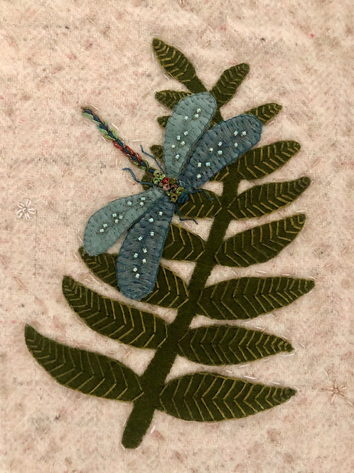 Dragonfly and Fern: In the Garden Series (Hard copy with ribbon)