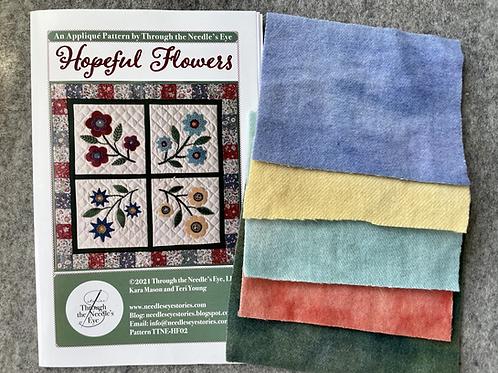 Hopeful Flowers Hand-dyed Wool