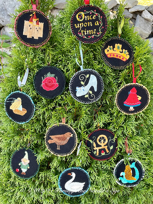 Fairy Tale Ornaments Printed Pattern