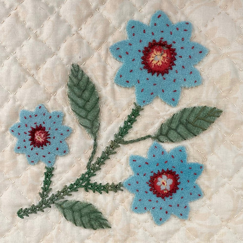 Hopeful Flowers Turquoise Flower: Block 3