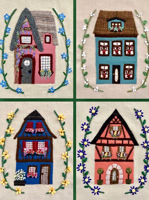 Village Wanderings—Homes: Printed Pattern