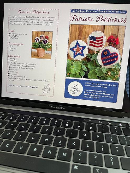 Patriotic Potstickers Digital Pattern