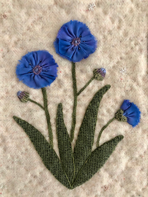 Cornflowers: In the Garden Series (Hard copy with ribbon)