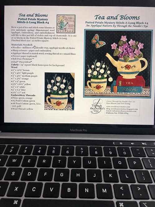 Tea and Blooms Digital Pattern